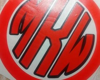 Circle Font Decal/Circle Font Monogram/Circle Font Sticker/Circle Font/Monogram/Fabulous Font Decal/Circle Monogram/Circle Decal/HTV Decal