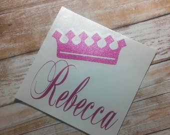 Queen Decal/Initial Sticker/ Initial Decals/ Initial Monograms/Tiara Life/ Decals/Yeti Cup Decals/ Monograms/Tiara/Pageant