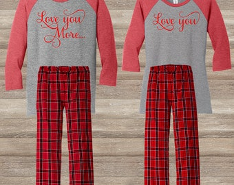 Love you & Love you More Pajama Set
