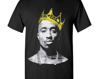 Tupac Crown Hip Hop Legend Graphic T Shirts