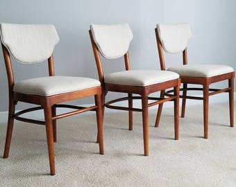 Vintage Thonet Dining Chairs – Set of Three, Bentwood Bistro