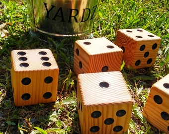 Yardzee!! - 5 Giant Dice - Yard Dice - Lawn Dice Yard Games Lawn Games Jumbo Games