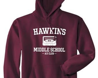 Hawkins Middle School AV Club Hoodie - Stranger Things Shirt - Stranger Things Tee - Jumper