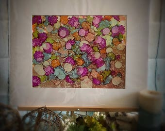 Alcohol Ink Art Print Painting Wall Art Abstract Painting Colorful Rain