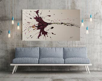 Abstract Painting 59,flower painting, acrylic painting. by Tomer Sharabani