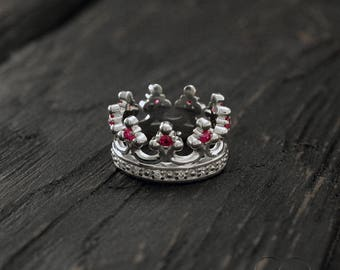 Crown engagement ring, Silver crown wedding band, Luxury crown ring, Crown wide ring, Men crown ring, Women crown band, Royal wedding band