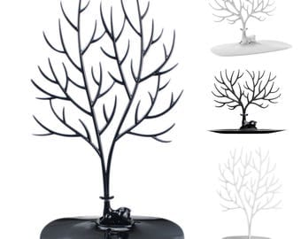 Jewellery-Necklaces Bracelets earrings jewelry pendants DISPLAY Stand To Showcase Black and white Fawn-plastic Tree