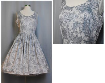 1950s Lilac/Gray Party Dress
