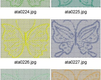 Butterfly-Impressions ( 10 Machine Embroidery Designs from ATW ) XYZ17E