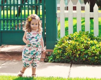 6-12 months , Umbrella Print, Vintage Inspired Romper, Baby Ruffle Romper, baby romper, Toddler Girl outfit , baby girl romper