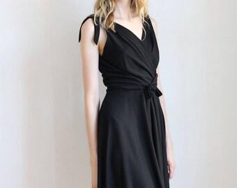 Vintage Black Lilli Diamond Dress / Small / 1960s