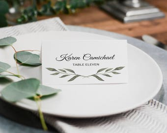 PC1 | 4 x 2.5 Place Card | Name Card | Folded | Wedding, Party, Reception | Printable and Editable | Template | PDF | Instant Download