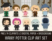 20% OFF Harry Potter Clipart Set 2, Wizzard clip art, magic clipart, harry potter birthday, harry potter party, Instant Download PNG 300 dpi