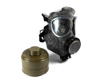 Vintage Gas Mask, Mask With Filter ,Gas Mask, Military Gas Mask With Filter, Army Gas Mask With Filter, Army, Soldier