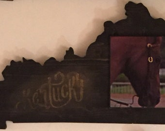 Derby Horse Kentucky Shape Wooden Art