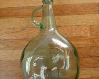 Vintage wine bottle - Vintage glass bottle - Unique glass bottle - Almaden bottle - corked wine bottle - Antique glass - Wine gift - Vintage