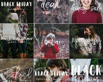 9 Black Friday Photo Overlays