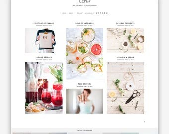 LIMITED! Lena | Responsive Minimalist Premade Blogger Template