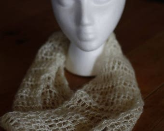 Light Weight Lacy Infinity Scarf