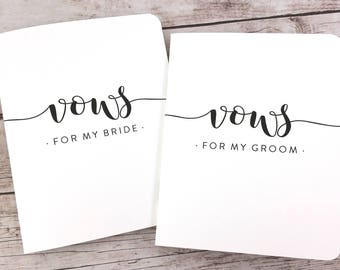 Wedding Vow Books, His and Hers Vow Books, Bride and Groom Vow Books, Vow Booklets, Vow Notebooks, Wedding Keepsake - FPS00VB7
