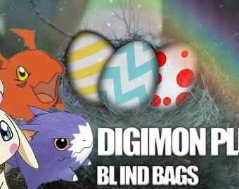 Digimon Plush Blind Bags Random Digi Egg & Baby Digimon