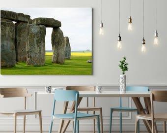 Stonehenge Print, Large Travel Print, England Photo, Stonehenge Detail, Office Photo Art, Stonehenge England, Travel Photography