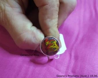 Geramane Pink Signet Ring