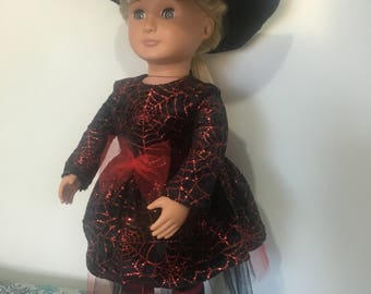 Halloween witch's costume for American Girl or Our Generation Dolls