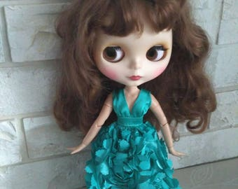 Blythe clothes Turquoise dress for Blythe