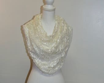 white wedding shaw lace scarf oversized scarf gift for wife bridal shawl wedding gift summer scarf,sheer scarf,gift for her triangle scarf