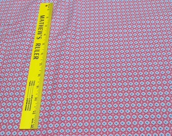Aunt Grace-Blue Burst on Red Cotton Fabric by Judie Rothermel for Marcus Fabrics