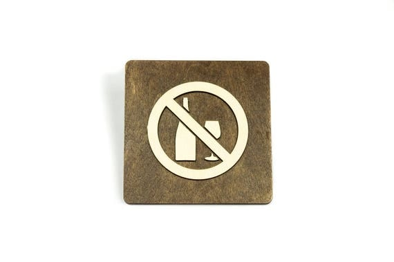 No Alcohol Allowed Sign Restaurant Dining Room