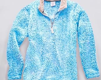 Monogrammed Sherpa Pullover, Quarter zip Sherpa pullover, Monogrammed Sherpa tops, Ladies Sherpa pullovers, Sherpa pullover women,