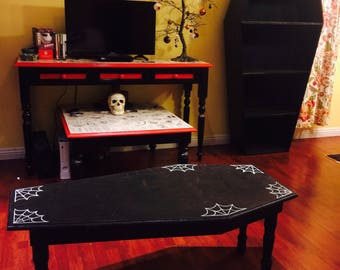 Coffin Table w/ Spider Webs