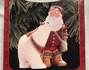 Hallmark 1997 Keepsake Ornament Santa's Polar Friend Hallmark Archives Colletion