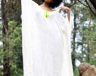 Galabia dress Bohemian dress Ethiopian dress Ethiopian clothing habesha dress Kemisd