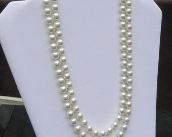 Cream Swarovski Pearl, Opera Length Necklace