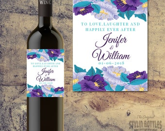 WEDDING WINE LABEL - Bride & Groom Personalized Wine Label - Custom Wine Label - Wedding Wine Label -Wedding Table Decor - Wedding Day Wine