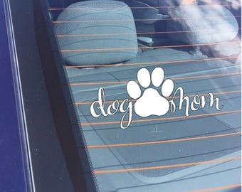 Dog Mom Car Decal