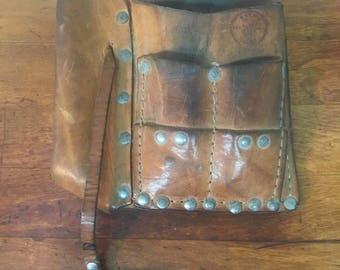 Vintage Leather Klein Tools Workbelt Pocket