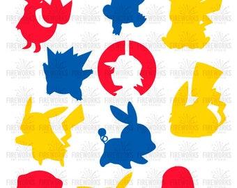 Pokemon svg - Pokemon Inspired - Instant Download - Pokemon Cut File - Clipart - Cricut - Cameo - superhero svg - svg eps dxf png jpg