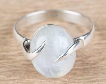 Moonstone Ring, June Birthstone Jewelry, Silver Ring, Statement Ring, Promise Ring,  Moonstone Jewelry, Handmade Jewelry, BJR-335-RM