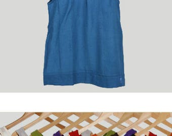 Docker woman, cotton summer top, solid top Sleeveless Top for summer rustique fine organic cotton voile