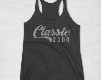 18th Birthday Gifts For Girls & Boys - 18th Birthday Shirt - Classic 2000 Tank Top -Graphic Tee for Boys and Girls -18th Birthday Gift Ideas