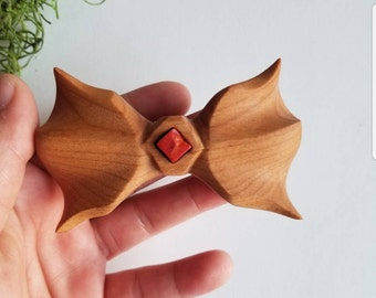 Cherry Bow Tie with Red Jasper