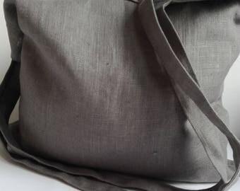 Reusable Grocery Bag, Ethically Produced Reusable Shopper Bag, Farmers Market Bag, Linen Tote, Shopping Bag, Eco Tote Bag