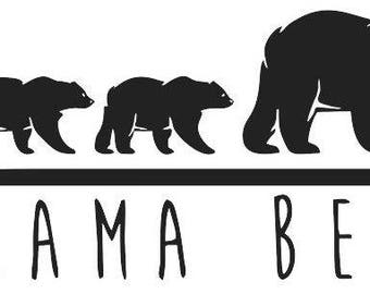 Mama Bear & Cubs - 6 inch