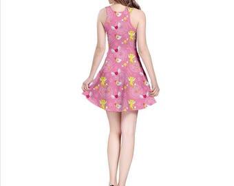 Cardcaptor Sakura Dress - Cardcaptor Sakura Skater Dress Kero Skater Dress Magical Girl Dress Anime Dress Magical Girl Skater Dress