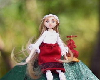 Ooak doll Ooak art doll Artdolls Art doll miniature art doll Dreamer crochet doll Artists dolls