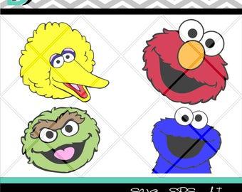 Sesame Street svg,Elmo svg,Cartoons svg, svg files,Face svg,Digital Art Print,Design Decoration,For Kids svg,Art And Collectible